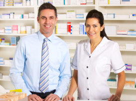 Businessman and a pharmacist